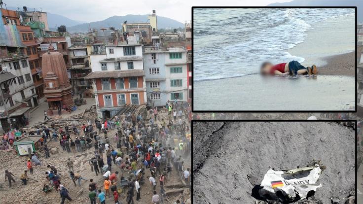 Die Katastrophen 2015 kosten unzähligen Menschen das Leben.