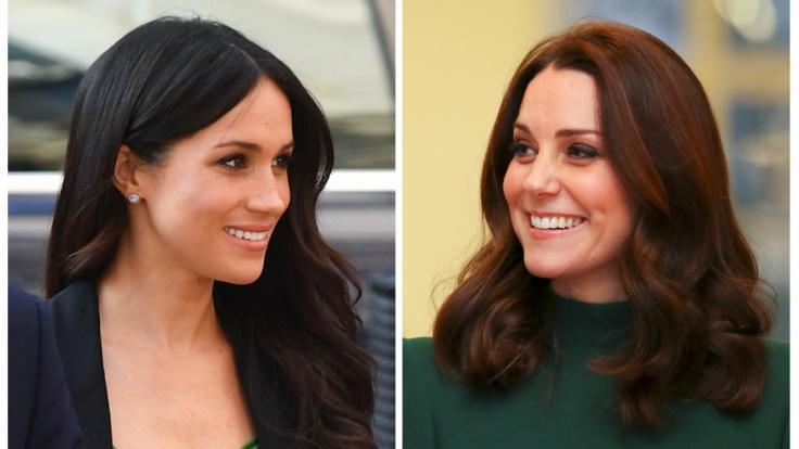 In der Öffentlichkeit machen Meghan Markle und Kate Middleton gute Miene zum bösen Spiel. Doch hinter den Kulissen soll es brodeln. (Foto)