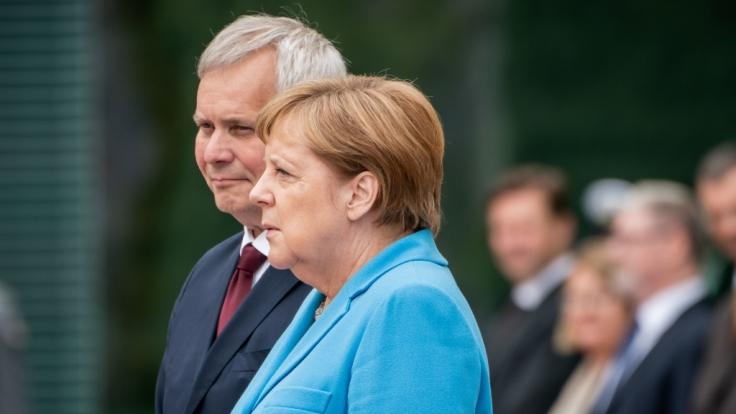 Angela Merkel sorgte beim Empfang des finnischen Ministerpräsidenten Antti Rinne mit einem neuen Zitter-Anfall für Bestürzung.