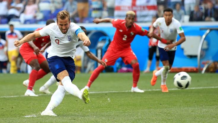 Englands Superstar Harry Kane in Aktion. (Foto)