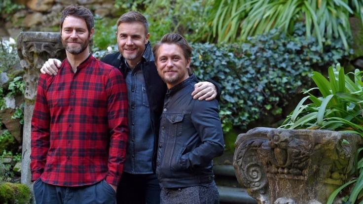 """Howard Donald, Gary Barlow und Mark Owen der britischen Pop-Band """"Take That"""". (Foto)"""