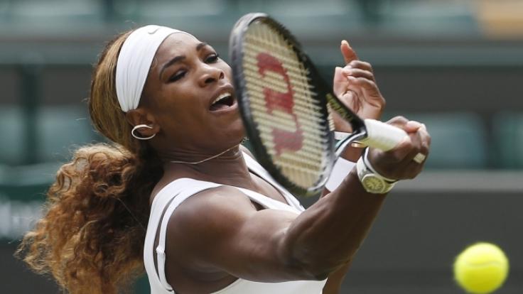 Von einem kleinen Babybauch ist noch nichts zu sehen bei Serena Williams.
