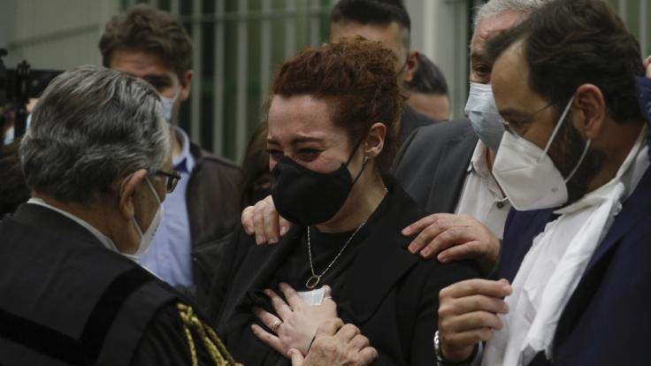 Rosa Maria Esilio, Witwe des italienischen Carabinieri-Polizisten Mario Cerciello Rega, während des Prozesses in Rom. (Foto)