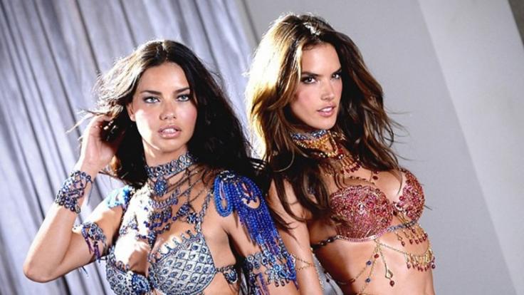 Victoria's Secret Fashion Show 2014: Adriana Lima (links) und Alessandra Ambrosio tragen in diesem Jahr die Fantasy Bras.
