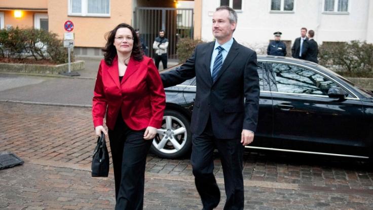 Andrea Nahles und ihr Ehemann Marcus Frings haben sich getrennt. (Foto)