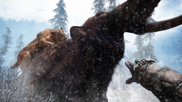"""Mit Mammut und Sebelzahntiger: In """"Far Cry Primal"""" geht es in die Urzeit. (Foto)"""