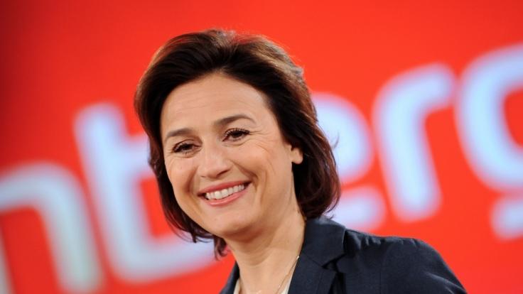 """Sandra Maischberger in Berlin im Rahmen ihrer Talksendung """"maischberger. die woche"""". (Foto)"""