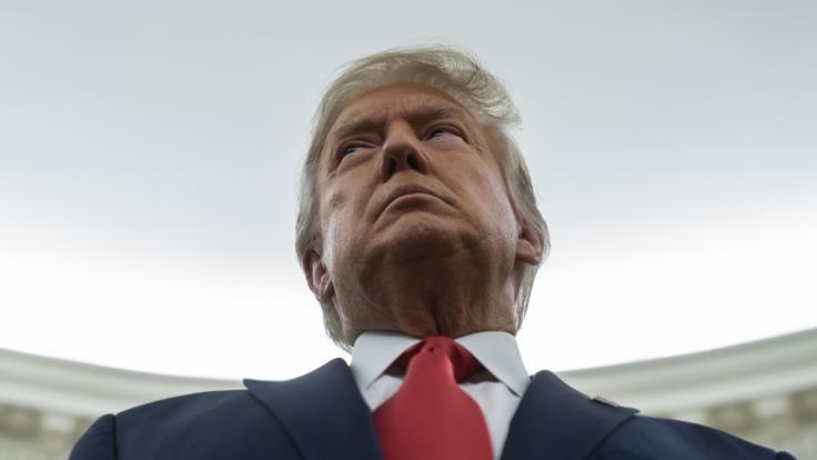 Donald Trump soll ausradiert werden. (Foto)