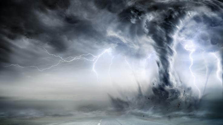 """Über den Britischen Insel kommt es zum Wetterextrem """"Bombogenese"""", das Hurrikan-artige Stürme zur Folge hat. (Foto)"""