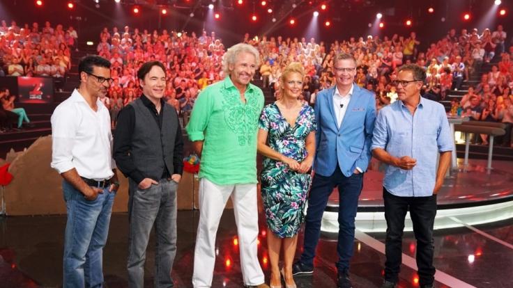 "Michael ""Bully"" Herbig, Rick Kavanian, Christian Tramitz sowie Sängerin Vanessa Mai sind im Team Gottschalk-Jauch. (Foto)"
