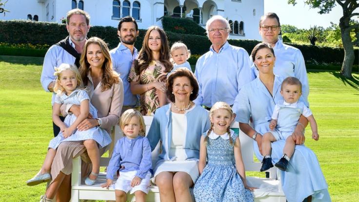 Königin Silvia von Schweden und ihre Familie. (Foto)