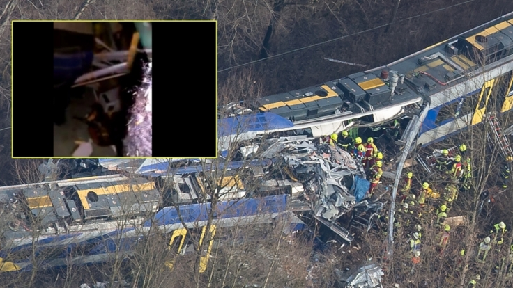 Bei dem schweren Zugunglück in Bad Aibling starben am Dienstag, 09.02.2016, zehn Menschen.