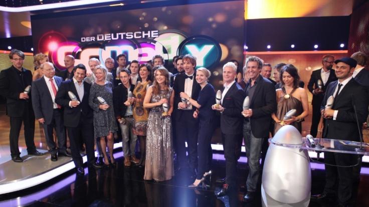 Die Preisträger des deutschen Comedypreis 2014.