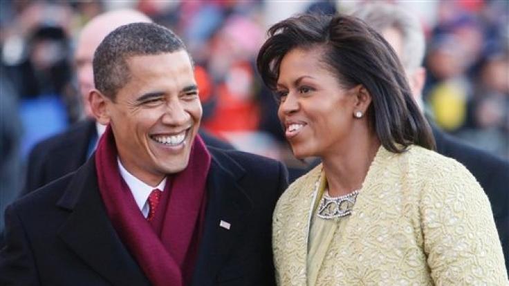 Das erste afroamerikanische Paar an der Spitze der US-Nation: Barack und Michelle Obama. (Foto)