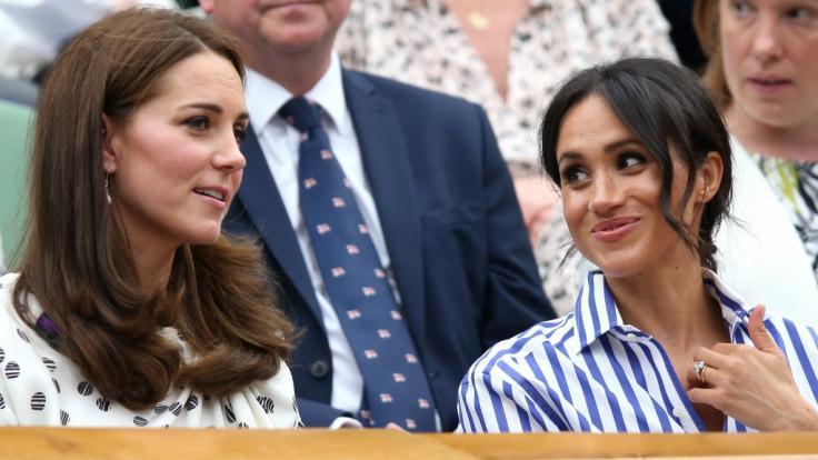 Kate Middleton und Meghan Markle beim diesjährigen Tennis-Turnier in Wimbledon.