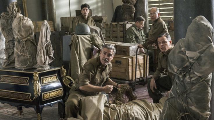 Frank Stokes (George Clooney) und James Granger (Matt Damon) im Einsatz. (Foto)