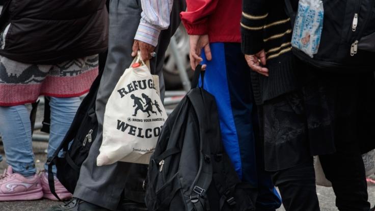 Flüchtlinge am Hauptbahnhof München.