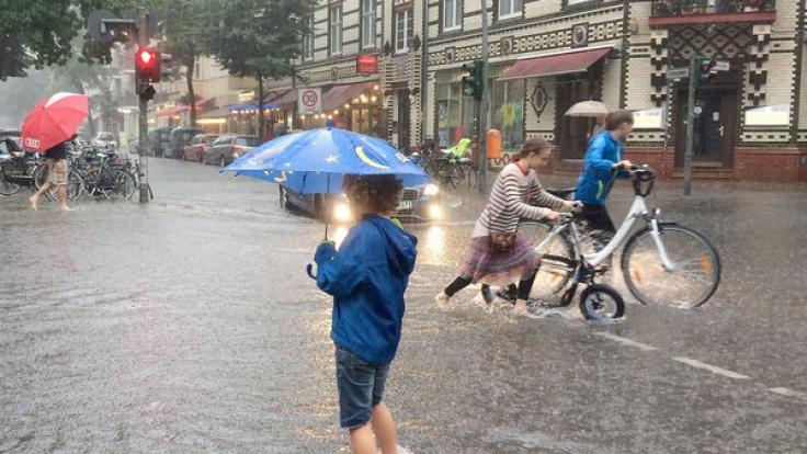 Nach den heftigen Regenfällen der vergangenen Woche ist vorerst Wetterbesserung in Sicht. (Foto)