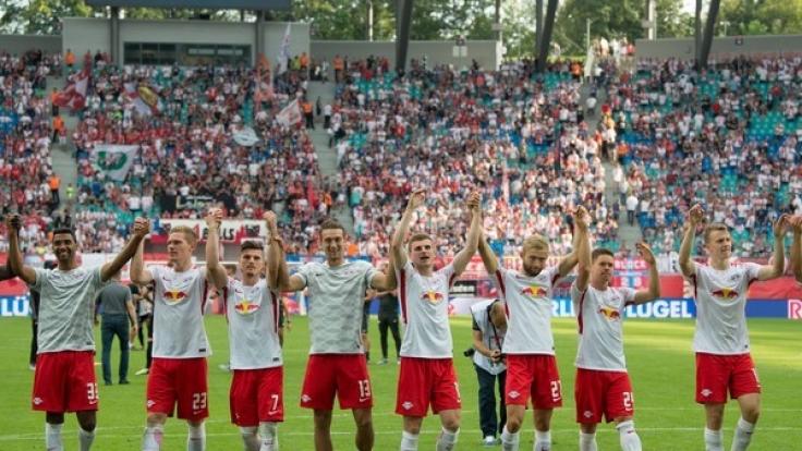 Für RB Leipzig steht am Mittwoch das Debüt in der Champions League an. (Foto)