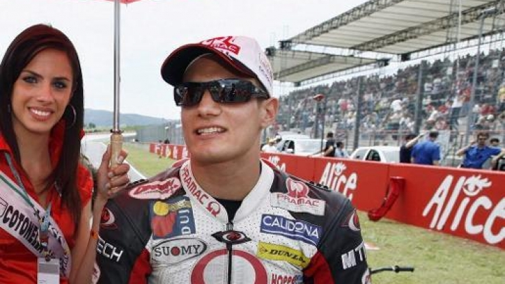 Alex Hoffmann während seiner Karriere als Motorrad-Pilot. (Foto)