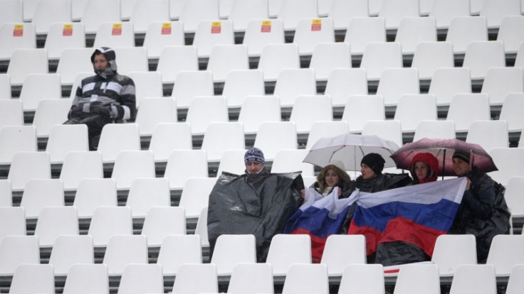 Leere Ränge bei Olympia: Die Ski-alpin-Wettbewerbe sind wie hier beim Riesenslalom schlecht besucht.