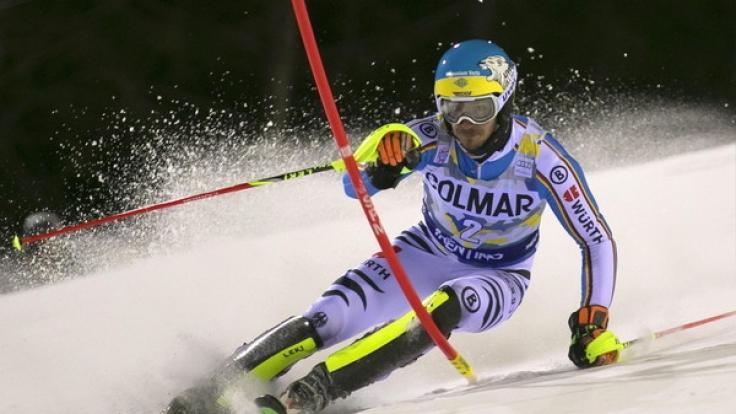 Felix Neureuther startet am 5.1.2107 beim Slalom der Herren in Zagreb.