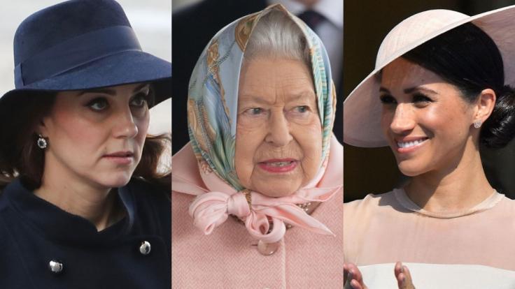 Die Royals-News hatten diese Woche nicht nur für Kate Middleton, Queen Elizabeth II. und Meghan Markle allerhand unliebsame Überraschungen parat. (Foto)