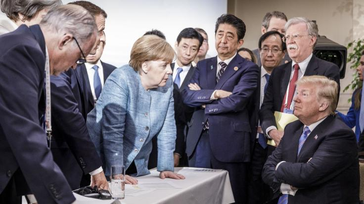 Nach dem G7-Gipfel kritisierte Merkel Trump ungewohnt scharf. (Foto)