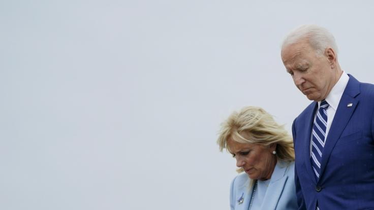 US-Präsident in tiefer Trauer: Joe Biden und Ehefrau Jill müssen den schmerzlichen Tod ihres Schäferhundes Champ verkraften. (Foto)