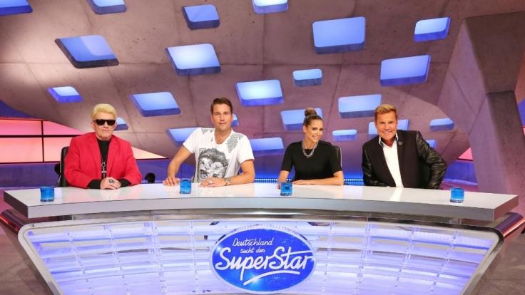Sitzen 2015 in der DSDS-Jury: Heino, DJ Antoine, Mandy Capristo und Poptitan Dieter Bohlen. (Foto)
