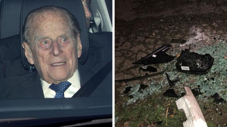 Prinz Philip, der Herzog von Edinburgh, war in einen Autounfall verwickelt.