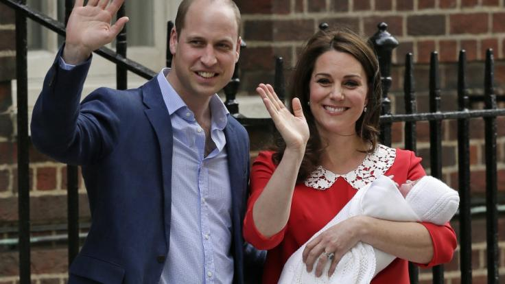 Prinz William und Kate Middleton haben am 23.4.2018 einen Sohn bekommen.