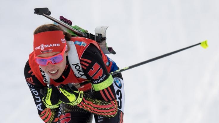 Biathletin Laura Dahlmeier werden für den Weltcup in Antholz gute Siegchancen prophezeit.