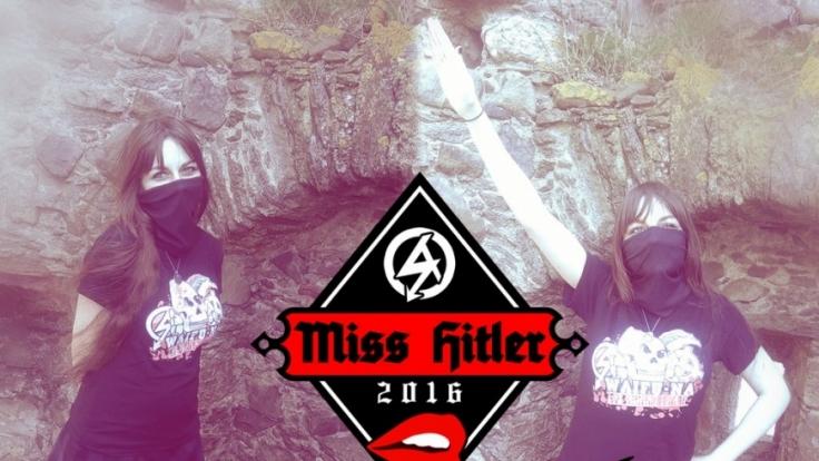 """Mit Hitlergruß: Diese Schottin wurde """"Miss Hitler"""" 2016. (Foto)"""