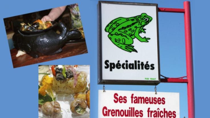Französisches Essen der besonderen Art. (Foto)