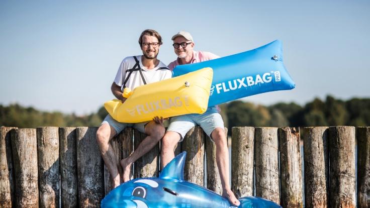 Die Fluxbag-Gründer Lucas Richter und Jens Thiel.