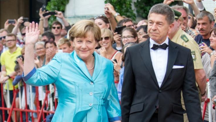 Angela Merkel mit ihrem zweiten Ehemann Joachim Sauer: Die beiden sind seit 1998 verheiratet.