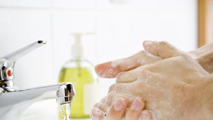 Desinfektionsmittel brauchen gesunde Menschen nicht benutzen. Wasser und Seife reichen zum Händewaschen. (Foto)