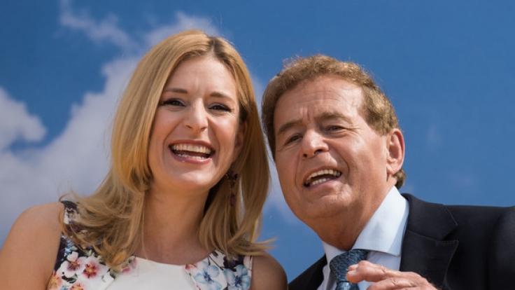 Stefanie Hertel mit ihrem Vater Eberhard Hertel.