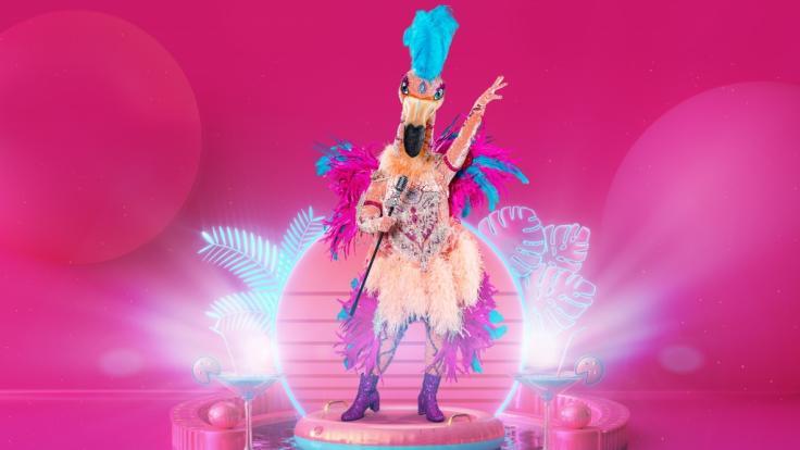 """Dieser glamouröse Flamingo schwingt sein Federkleid bei """"The Masked Singer 2021"""". (Foto)"""