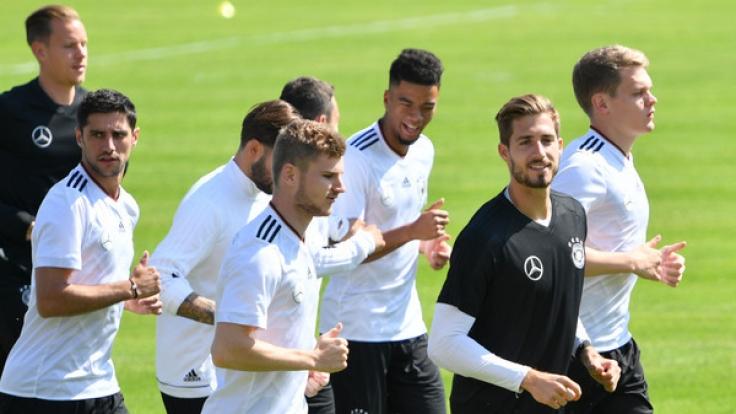 Die DFB-Mannschaft hat vor dem Abflug zum Confed Cup nach Russland eine letzte Trainingseinheit absolviert. (Foto)