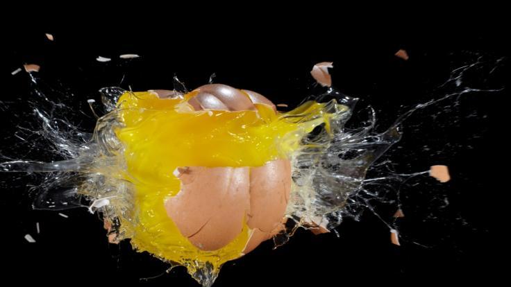 Explodierte Eier sind keine Seltenheit. (Symbolbild) (Foto)