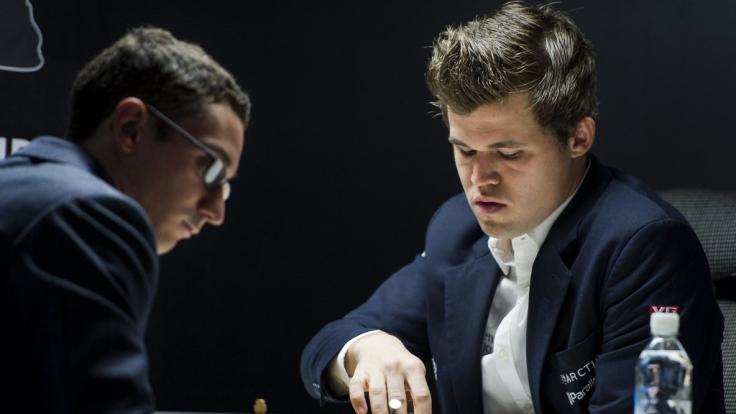 Fabiano Caruana und Magnus Carlsen kämpfen um den Weltmeister-Titel im Schach.