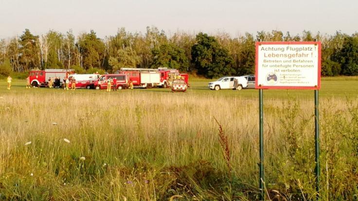 Auf dem Flugplatz Renneritz in Sachsen-Anhalt sind beim Absturz eines Kleinflugzeugs drei Menschen gestorben. (Foto)
