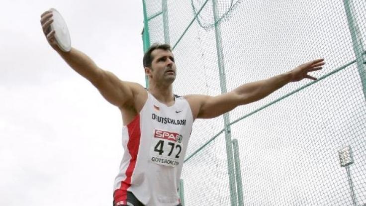 Lars Riedel bei der Leichtathletik-EM im Jahr 2006.