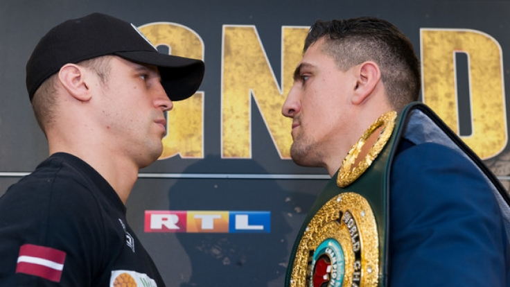 Beim Kampf um den WBC-Titel standen sich am 1. April 2017 Marco Huck (r.) und Mairis Briedis gegenüber.