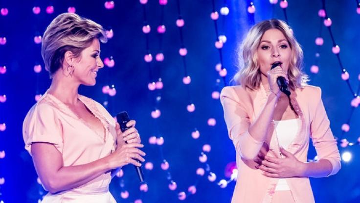 """Michelle sang mit ihrer Tochter gemeinsam bei der Show """"150 Jahre Schlager - das große Fest zum Jubiläum"""". (Foto)"""