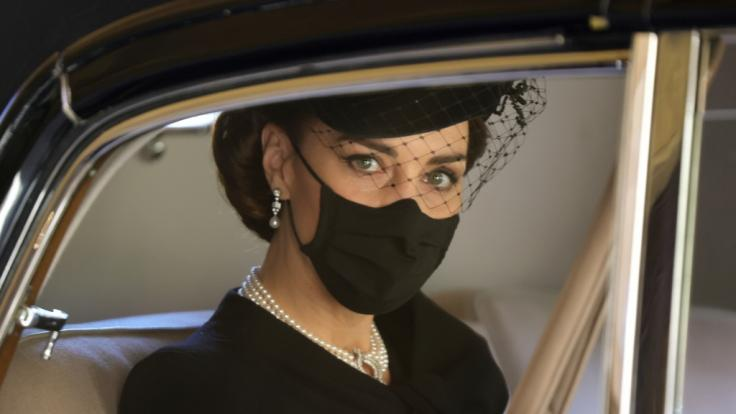 Herzogin Kate bei der Beerdigung von Prinz Philip. (Foto)