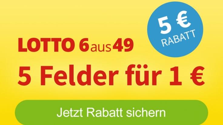 Jetzt 5 Euro Rabatt sichern und fünf Felder für einen Euro tippen (Foto)