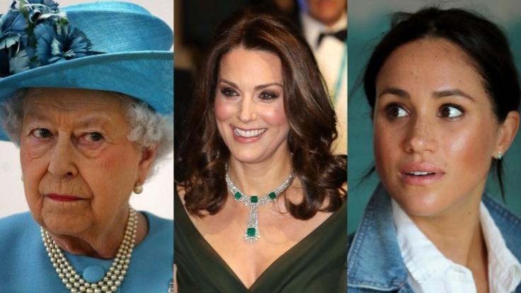 Queen Elizabeth II., Kate Middleton und Meghan Markle fanden sich auch in dieser Woche in den Royals-News wieder. (Foto)